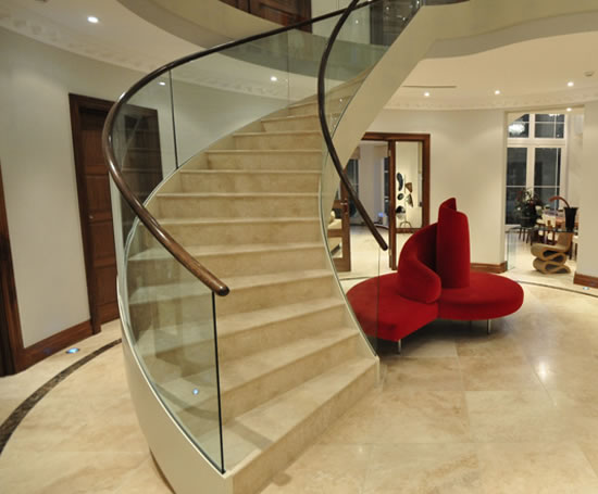 helical mild steel and glass staircase the barton diapo