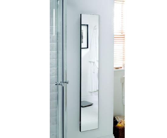 Space saving vertical ip44 mirror radiators ecolec for Mirror radiator