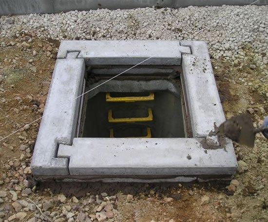 Precast concrete manhole seating rings elite