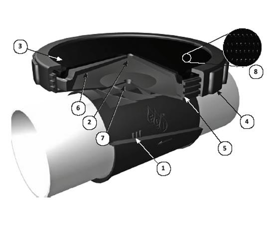 Flexair 174 Spectrum Fine Pore Saddle Mount Diffuser