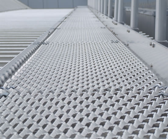 Mild steel expanded mesh for walkways expanded metal for Catwalk flooring
