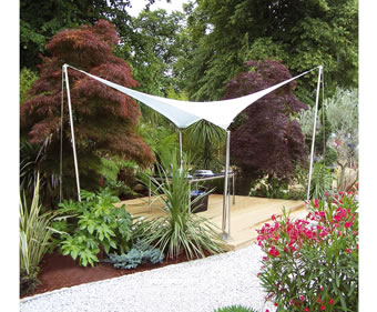Pow Wow demountable tensile fabric shade canopy - Fabric ...