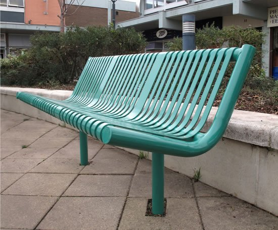 Melbourne steel seat and bench furnitubes international for International seating and decor