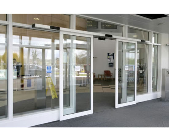Electric Sliding Doors : Slimdrive sl nt automatic sliding door system geze uk