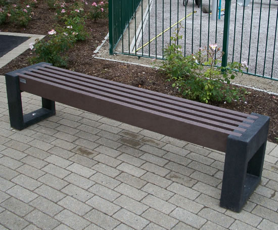 Canvas Straight Recycled Plastic Bench Goplastic Esi External Works