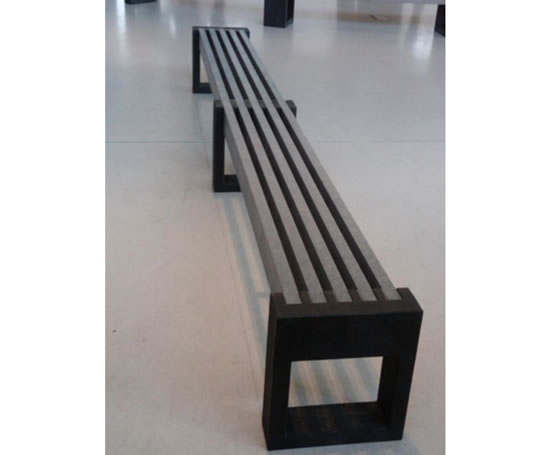 Canvas Straight Recycled Plastic Bench