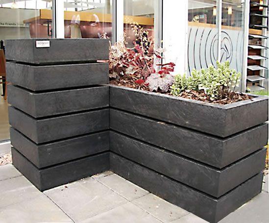 Agora recycled plastic planter