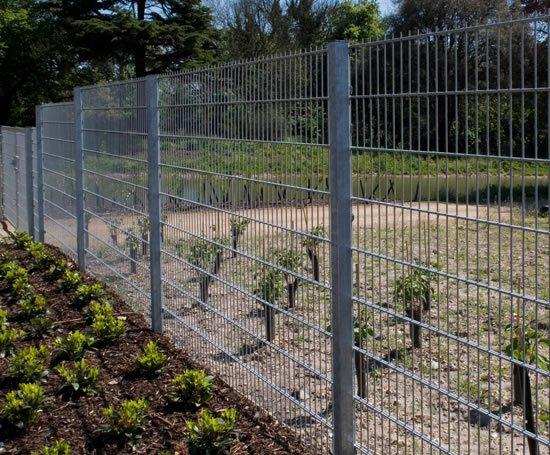Pallas Welded Mesh Panel Fence Heras Uk Esi External Works