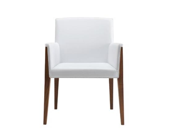 Charme contemporary upholstered beech dining chair hill for Upholstered dining chairs contemporary