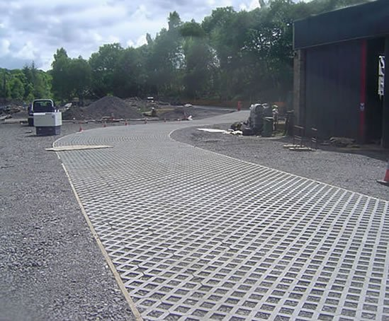 Heavy Duty Driveway Pavers : Terram truckpave heavy duty paver geosynthetics