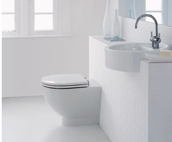 White Back to Wall WC