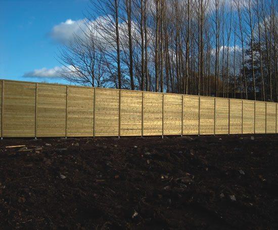 Jakoustic® Commercial / Highway barrier - 5m high