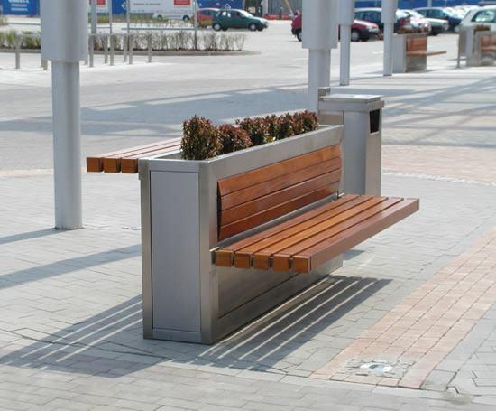 Park Bench In Restaurant