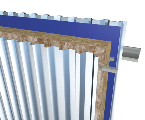 Wall Insulation Product : Bw rail and bracket metal wall insulation system knauf