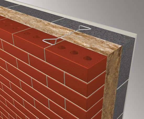 Cmu Wall Insulation : Mc masonry cavity wall insulation system knauf