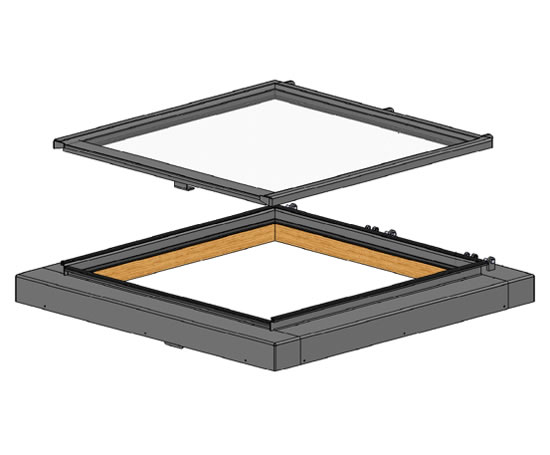Lumen planus rooflights for flat or low pitched roofs Low pitched roof