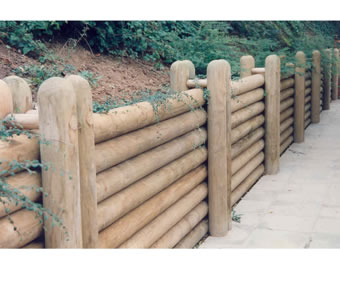 Unilog horizontal retaining wall