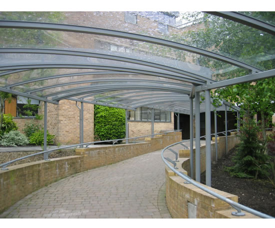 Covered Walkway Designs For Homes: Clifton Covered Walkway