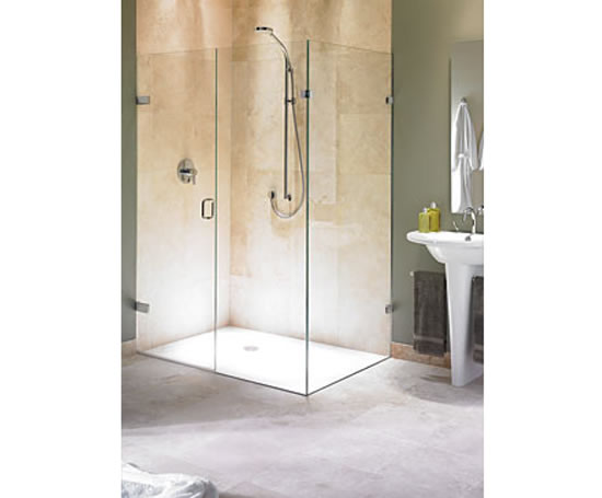 Biarritz frameless corner shower enclosure - frameless corner shower doors