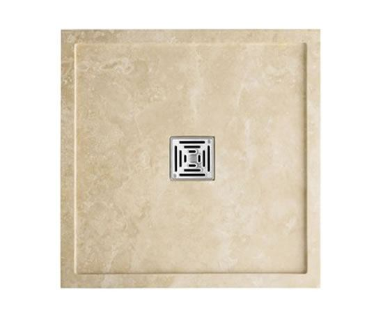 Mandarin Stone: Sparta Square Honed, Filled Travertine Shower Tray