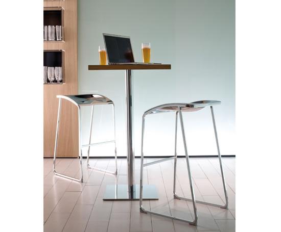 Pedrali inox square tables momentum contract furniture for Furniture 99 invisible