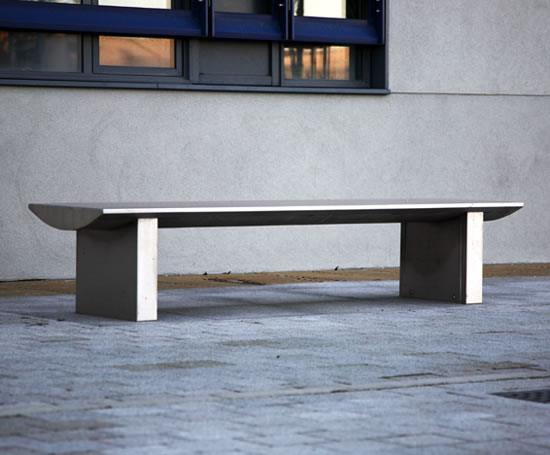 Omos s32 stainless steel bench, brushed polish finish
