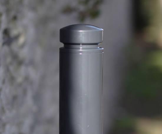 Omos s87 painted galvanised steel bollard