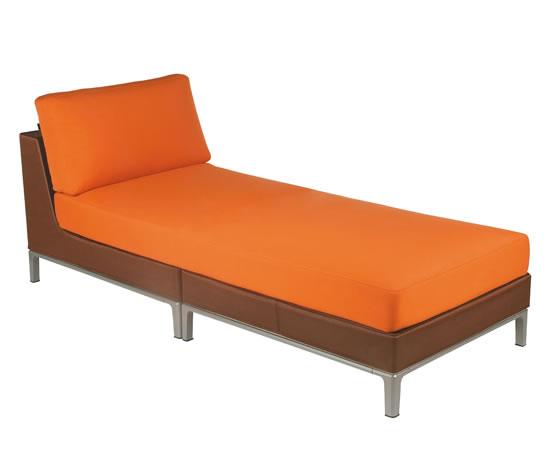 Kettal manhattan chaise longue ps interiors esi for Chaise longue orange