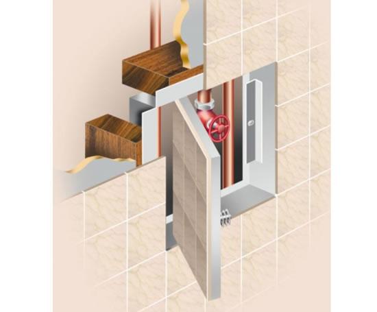 Wall Access Panel : Tilepan tiled wall access panels panelcraft