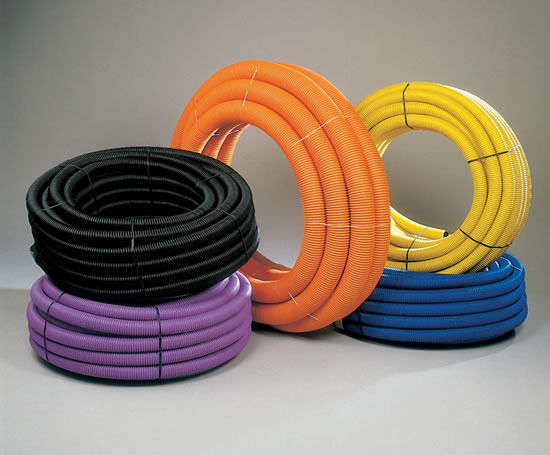 Ridgicoil coiled twin wall cable protection