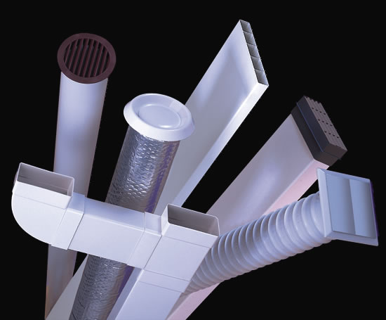 Industrial Ventilation Ducting : Domus supertube flat channel ducting polypipe
