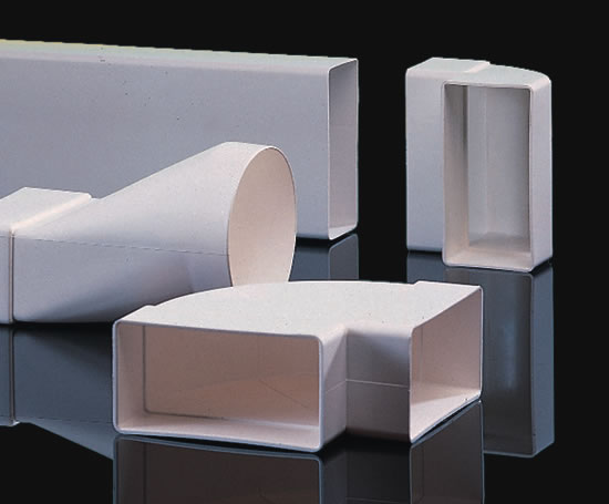 Domus system 100 flat channel ducting polypipe for Domus building cleaning