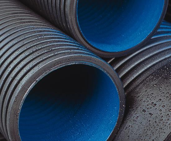 Ridgidrain hdpe twin wall surface drainage pipe polypipe