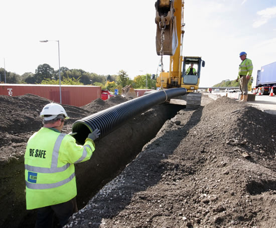 Ridgidrain hdpe pp advanced drainage system pipes for Below ground drainage systems explained