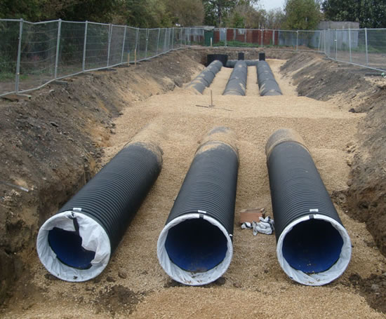 Ridgistorm xl large diameter thermoplastic pipe polypipe for Plastic water pipe