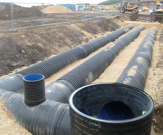Ridgistorm xl large diameter thermoplastic pipe polypipe