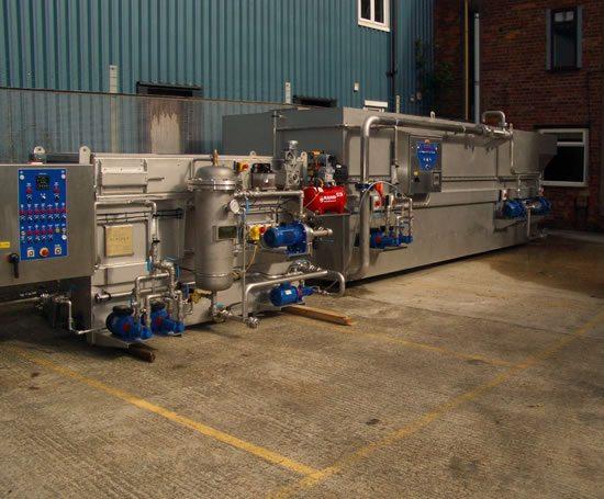 Submerged aerated media plant
