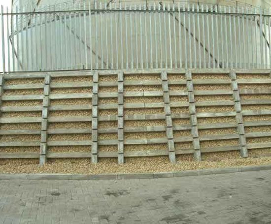 Kriblok gravity retaining wall Ruthin Precast Concrete