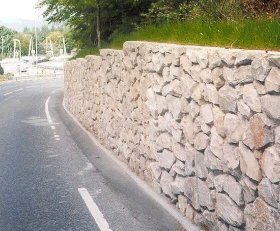 Rcc Retaining Wall : Rocwall reinforced concrete natural stone retaining wall
