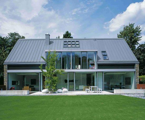 Double Lock Standing Seam Zinc Roofing Rheinzink Esi Building Design