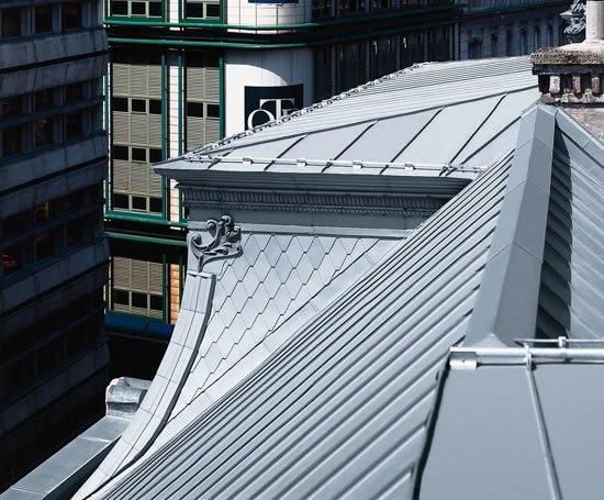 Double Standing Seam Zinc Roofing Rheinzink Esi