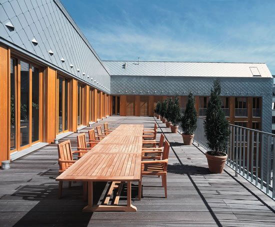 Large Format Exterior Cladding Products : Small format cladding tiles rheinzink esi building design