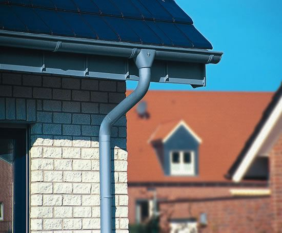 Zinc Roof Drainage System With Gutters And Downpipes