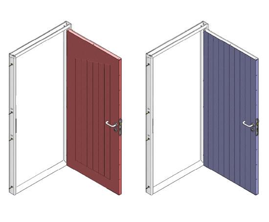 Profiled Steel Doors Robust Uk Esi Building Design