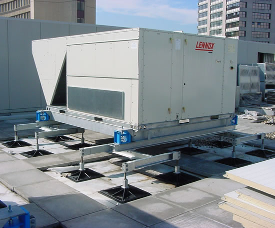 Roof Pro Support For Building Services On Flat Roof Roof