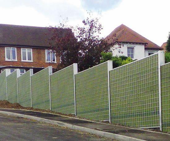 Planta green sound barriers ruthin precast concrete
