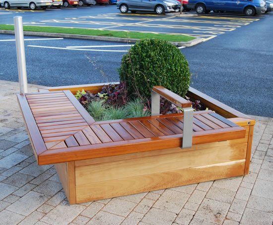 Planter with bench seat