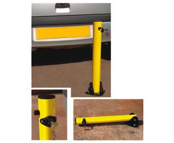Key-operated standfast post