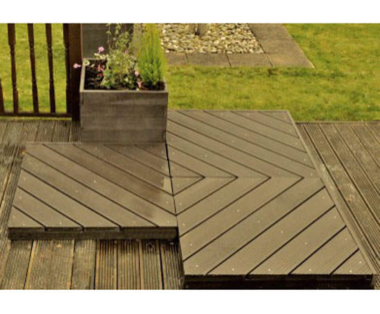 Recycled plastic decking sustainable options esi for Recycled plastic decking