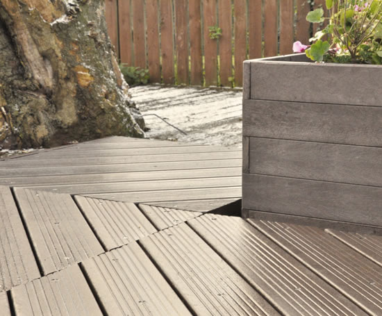 Recycled plastic decking sustainable options esi for Sustainable decking